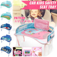 Kids Baby Car Seat Tray Safety Travel Table Drawing Child Snack Board Waterproof