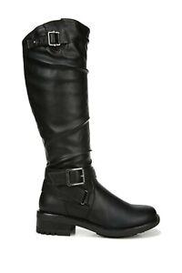 Carlos Santana NEW Sabina Black Knee-High Boots Wide Calf 8.5