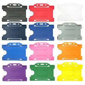 Single Sided Plastic Rigid ID Card Badge Holder - Choose Your Colour - Free P&P