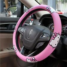 Cute Pink Hello Kitty Auto Car Steering Wheel Cover Universal Fit Diameter 38CM