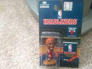 Dennis Rodman Corinthian Headliners Bulls Red Jersey/Orange Hair NIP Mint