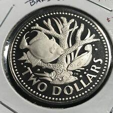 1973 BARBADOS $2 CORAL GARDEN PROOF BRILLIANT UNCIRCULATED