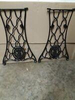 Antique SINGER Treadle Sewing Machine Base Legs Cast Iron