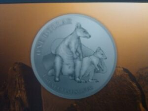 """2011 $1 Silver Proof KANGAROO SERIES Dollar Coin: """"ALLIED ROCK-WALLABY"""" RAM Coin"""