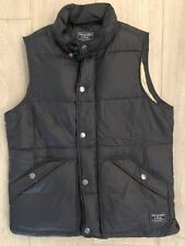 Abercrombie & Fitch Mens Black Down-filled Puffa Vest Jacket Size XS