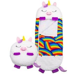 Happy Nappers Animal Kids Sleeping Bag Children Unicorn Cat Dragon Play Pillow