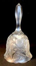 Fenton Art Glass Crystal Velvet Inverted Strawberry Bell