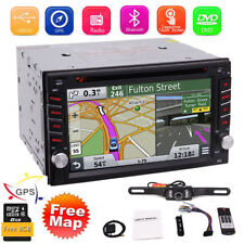 "Car Stereo GPS Navigation Bluetooth Radio Double 2 Din 6.2"" CD DVD Player Camera"
