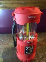 NEBO Tools 6555 Poppy 300 Lumen LED Lantern 120 Lumen Led Spot Light Red Handle