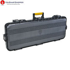 "All Weather Rifle Carrying Hard Case Foam Padded Gun Shotgun Black Grey 42"" Long"