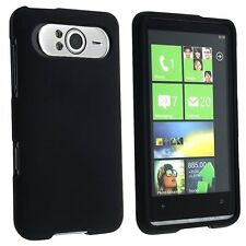 Hard Rubberized Case for HTC HD7 - Black
