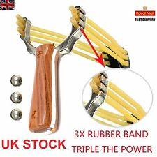 UK Powerful Slingshot Catapult Alloy Handle Sling Pro Outdoor Game Hunting