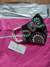 Vera Bradley Cotton Face Mask Bandana Swirl With Filter Pocket NWT in bag