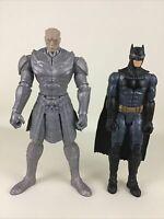 """Justice League Steppenwolf VS Batman 12"""" Action Figure 2pc Lot 2017 Mattel DC"""