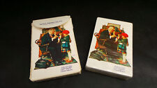 Vintage  Norman Rockwell Halls Cough Tablets Plastic Coated Playing Cards 1 Deck