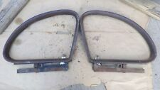 1939 Chevy 4 Door QUARTER WINDOW MOLDINGS / GLASS SLIDERS Original GM pair