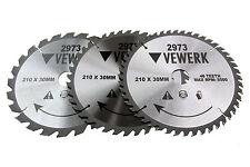 3 Kreissägeblatt 210x30 mm HM Hartmetall Holz 24 40 48 Zähne sägen TCT schneiden