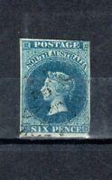 Australia - South Australia 1855 6d deep blue FU