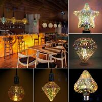 Led Light Bulb 3D Decoration Bulb 85-265V ST64 G95 G80 G125 A60 Heart E27