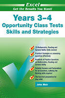 New Excel Opportunity Class Maths, Eng Test! Year 3-4 Workbook!OC! SELECTIVE! GA