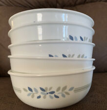 5 Corelle Soup And Cereal Bowls Signature Garden Gray