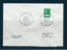 FRd enveloppe  Rotary  Xe anniversaire 67 Ingwiller  1976