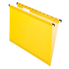 Pendaflex SureHook Reinforced Hanging Folders, Letter Size, Yellow, 6152 1/5 YEL