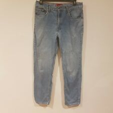 Levi's 504 Jeans Mens Size W36 L34 Straight Blue Denim Zip Fly - MA12