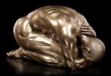 masculine statue Nu - agenouillé paillettes sur Fil de fer SOL - Grand -