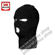 3 HOLE KNIT SKI MASK BEANIE WINTER SNOWBOARD HAT CAP warm double layer fabric