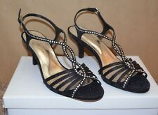 """NEW ~ CAPARROS Black Dress Shoes w/stones / Size 7.5 M / 2-3/4"""" Heel REALLY CUTE"""