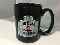 "Jim Beam Coffee Mug American Stillhouse Black Oversized 4-1/2"" Tall Big Handle"