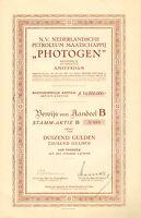N. V. Nederlandsche Petroleum PHOTOGEN, accion, 1920 (Siege: Amsterdam)