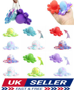 Simple dimple Octopus Double-Sided Flip Toy Animals Squid Silicone ADHD Fidget