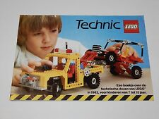 LEGO 1982 CATALOG FOLDER 'TECHNIC' DUTCH