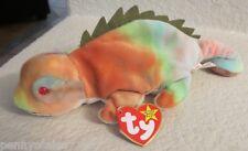 Ty Beanie Baby Iggy With Rainbow's Fabric  Error PVC Filled
