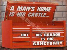 Vintage Garage, 54 Mechanic Tool Box, Old Car Chest Funny, Medium Metal/Tin Sign