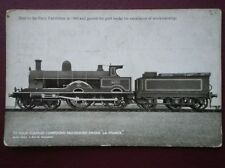 POSTCARD L & NW RLY 4 COUPLED PASSENGER LOCO NO 4000 'LA FRANCE' SEEN AT PARIS E
