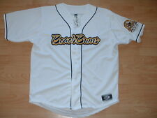 TRAVERSE CITY BEACH BUMS STITCHED BASEBALL JERSEY MEN'S SMALL - WHITE
