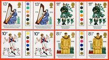 1976 SG. 1010-1013 Cultural Traffic Light Gutter Pair