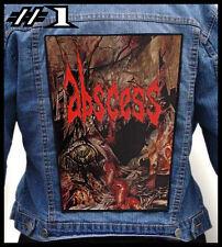 ABSCESS  --- Huge Jacket Back Patch Backpatch --- Various Designs