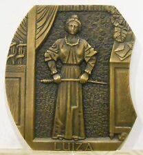 "Bronze Medal ""Luiza"" EÇA Queiroz Literary Work By M. Nogueira. M32"