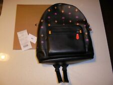 COACH LIMITED ATARI BLACK FULL SIZE LEATHER BACK PACK - NWT