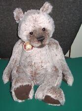 More details for charlie bears plus bear basil 15 inch grey bear