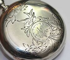 1888 WALTHAM HUNTING CASE 18 Size Antique COIN SILVER Key Wind Pocket Watch