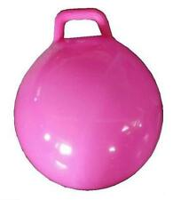 PINK GIANT RIDE ON HOP BOUNCE BALL WITH HANDLE hopping rideon kids toy rubber
