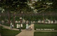 Ogdensburg NY Mansion Park c1910 Postcard