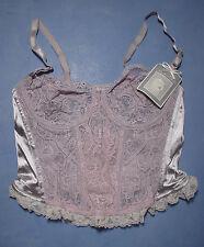 Vintage Oscar de la Renta 01013 Long Lace Front Bustier Size 36B in Violet
