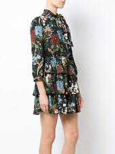 NST Alice + Olivia Breann Tie Neck Tiered Dress Floral Size 10