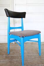 Vintage Mid Century Modern blue side chair Danish modern upcycle